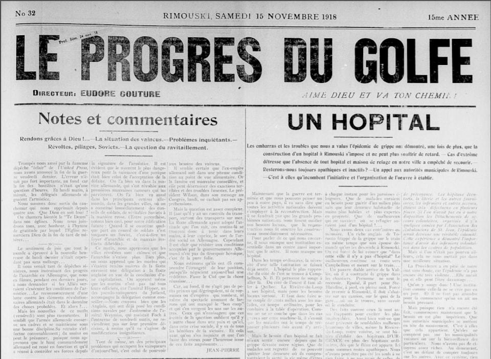 L'édition du journal Le Progrès du Golf publié après la fin de la Première Guerre mondiale.