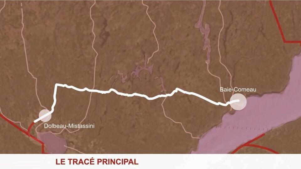 L'essentiel du trajet se ferait sur des terres publiques.