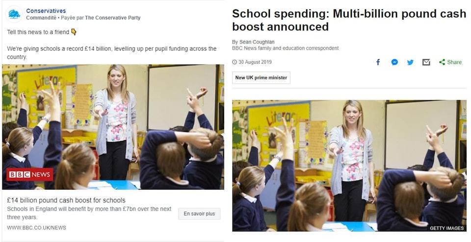 Nous voyons que les deux articles comportent des titres complètement différents.
