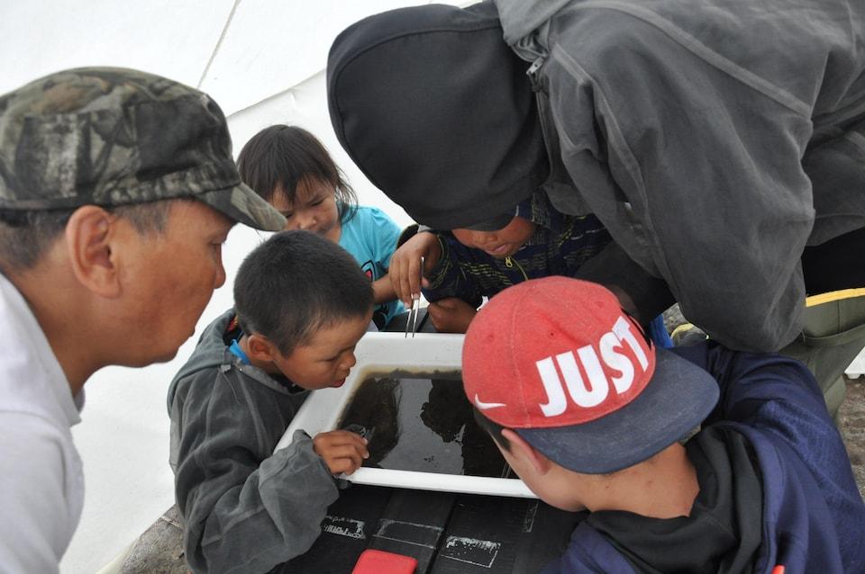 Le projet Imalirijiit permet de former des jeunes de la communauté.