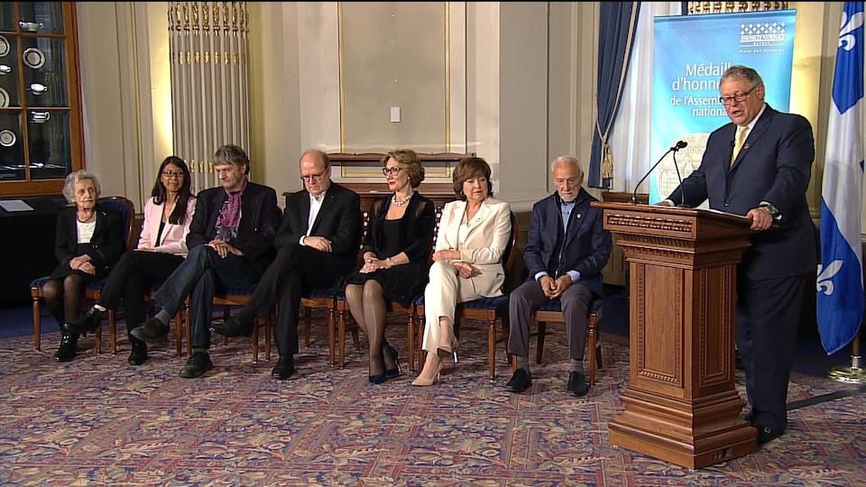 Les récipiendaires des médailles d'honneur de l'Assemblée nationale