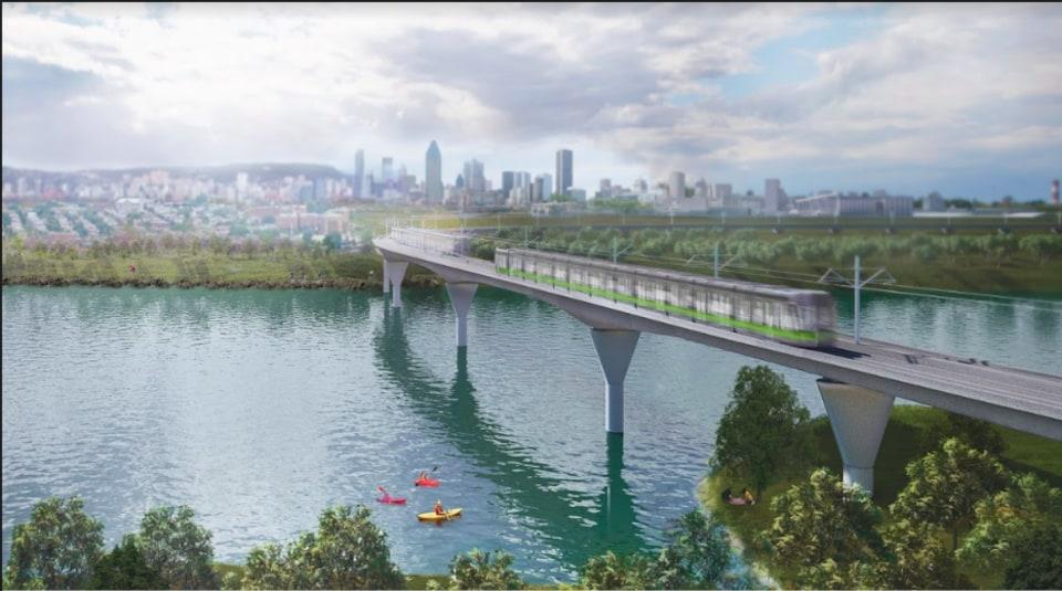 Le futur train du Réseau express métropolitain.