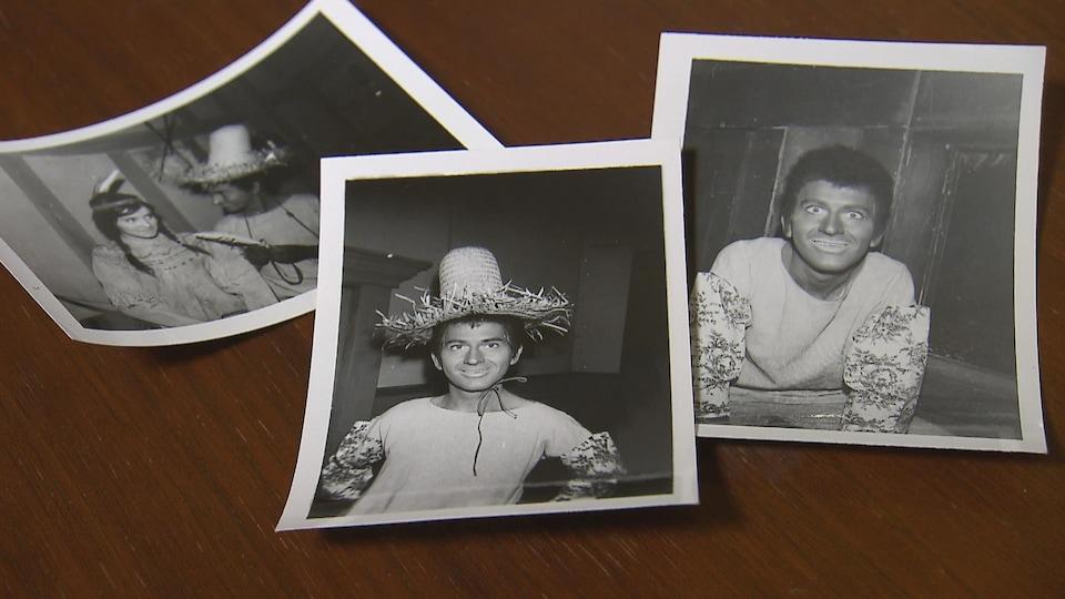 Des photos de Roland Lepage dans un de ses personnages.
