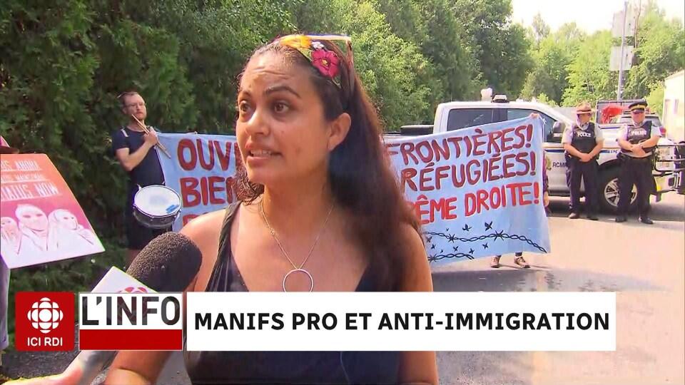 Romina Hernandez, membre de Solidarité sans frontières.