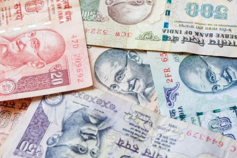 Le visage de Gandhi apparait sur les billets en Inde