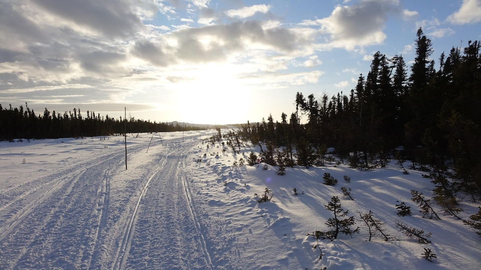 La Route Blanche entre Kégaska et Unamen Shipu