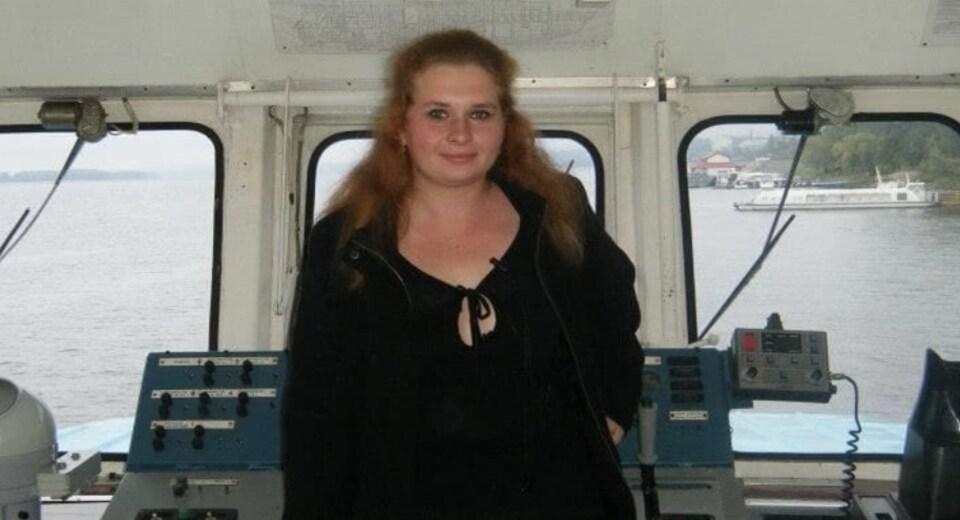Svetlana Medvedeva dans son bateau.