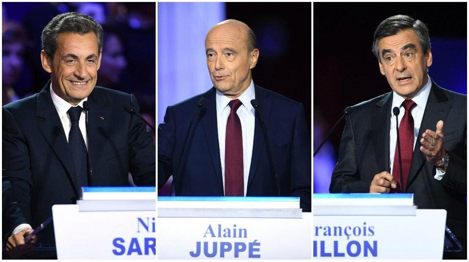 Collage des trois candidats