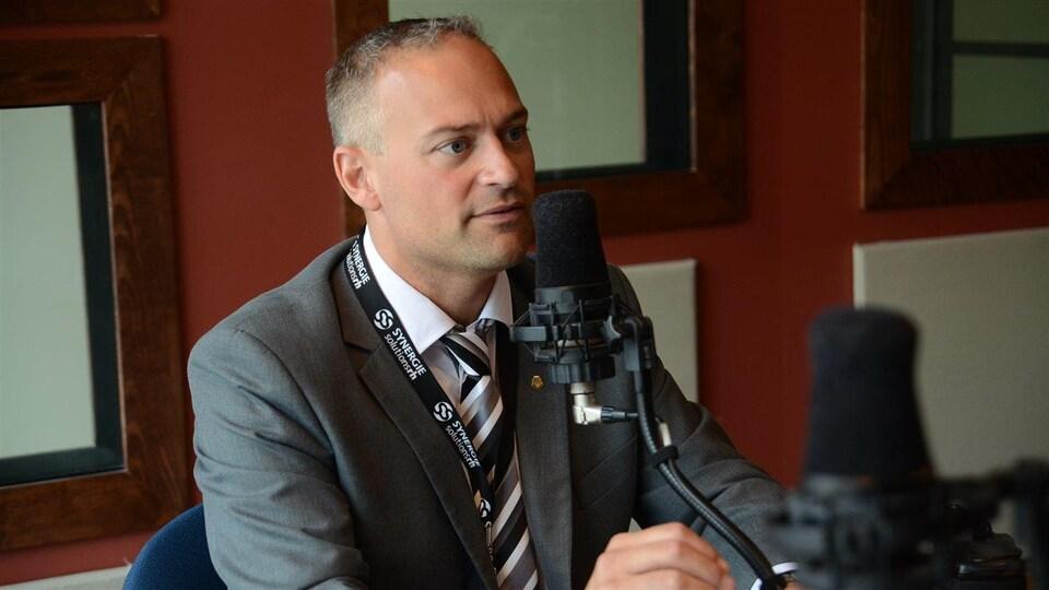 Sébastien D'Astous, maire d'Amos