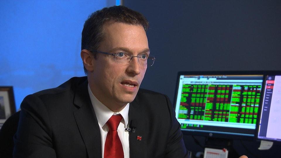 Serge Morin, premier vice-président de la Financière Banque Nationale à Sept-Îles