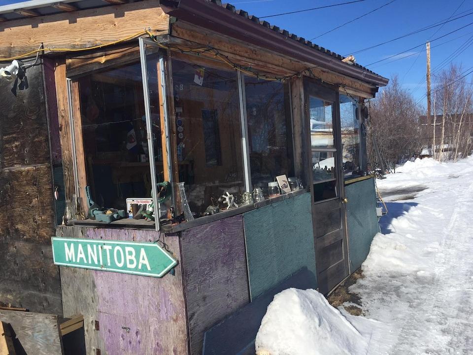 Une cabane à Yellowknife
