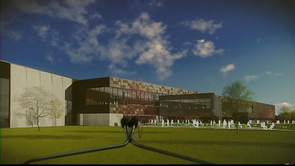 Une image représentant le nouveau centre de distribution de Simons