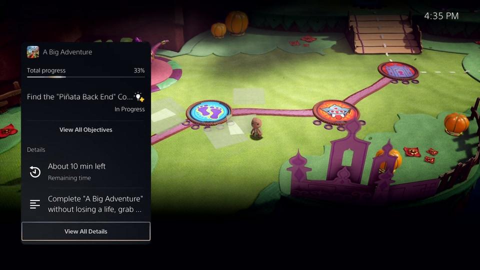 Capture d'écran du jeu «Sackboy» sur la PlayStation 5.