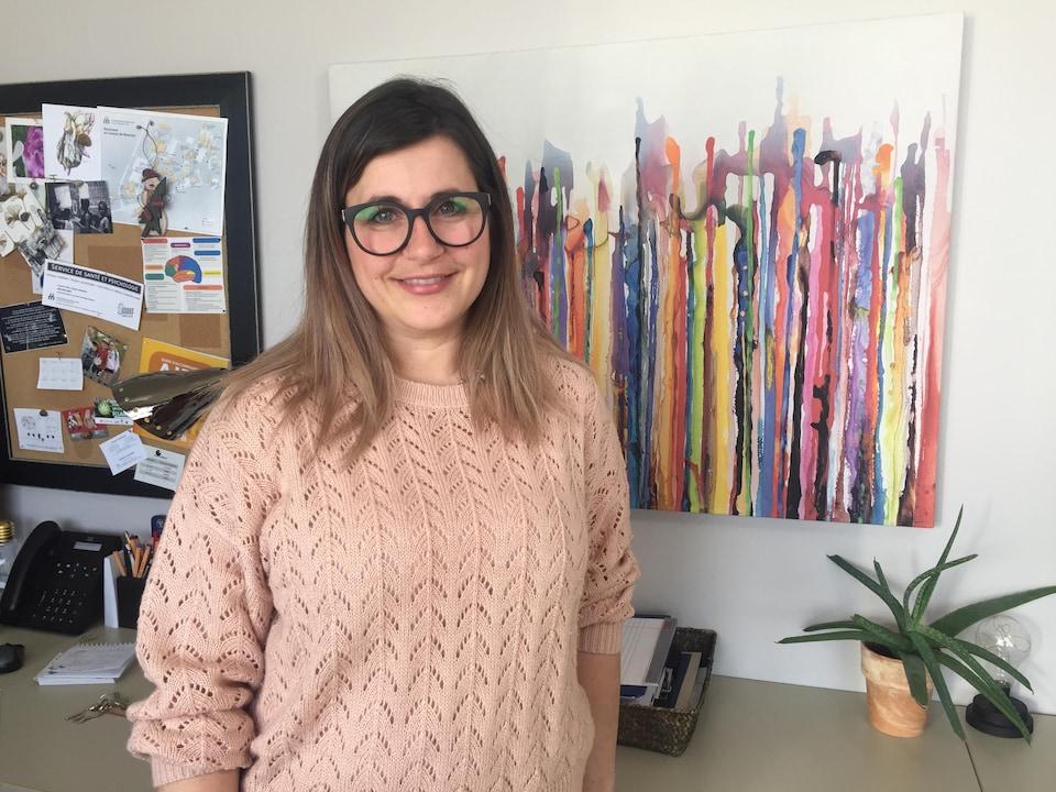 Sophie LeBlanc Roy, responsable du Service de santé et psychologie à l'Université de Moncton.