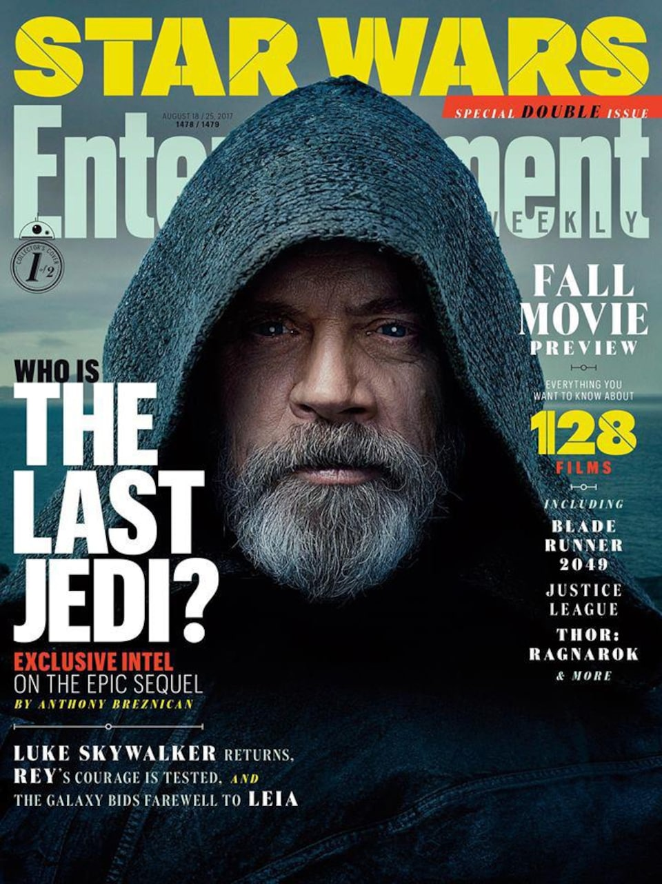 La page couverture du magazine « Entertainment Weekly » avec Mark Hamill