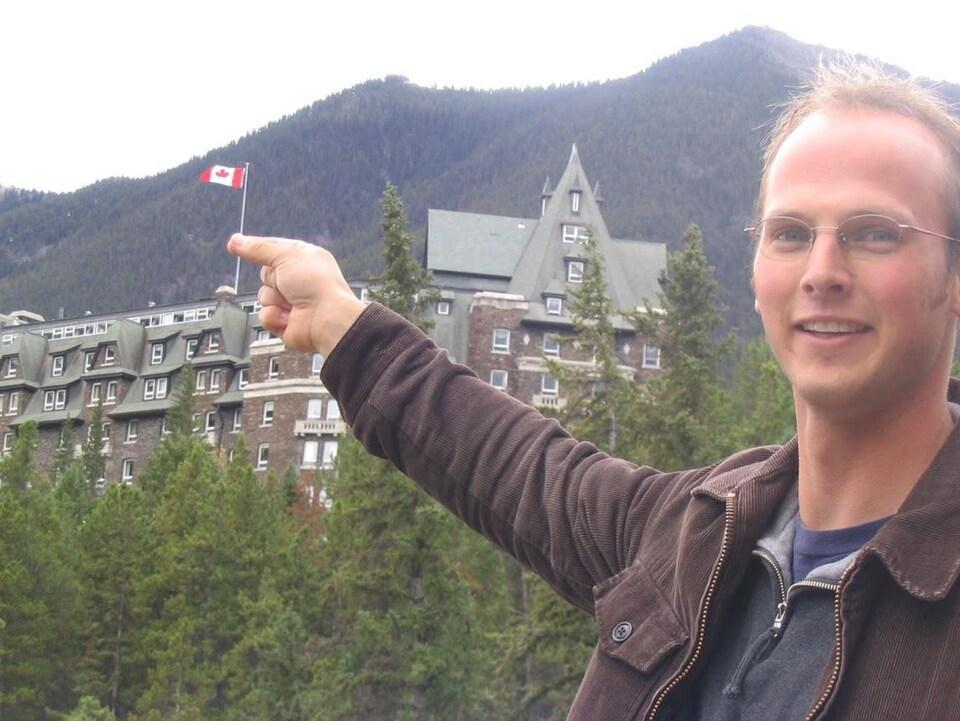 Photo de Stephen en voyage.