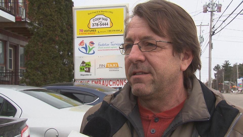 Le président du conseil d'administration de Taxi Coop de la Mauricie, Claude Mercier