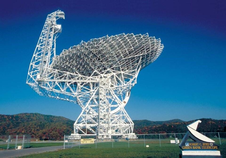Le télescope de Green Bank, aux États-Unis