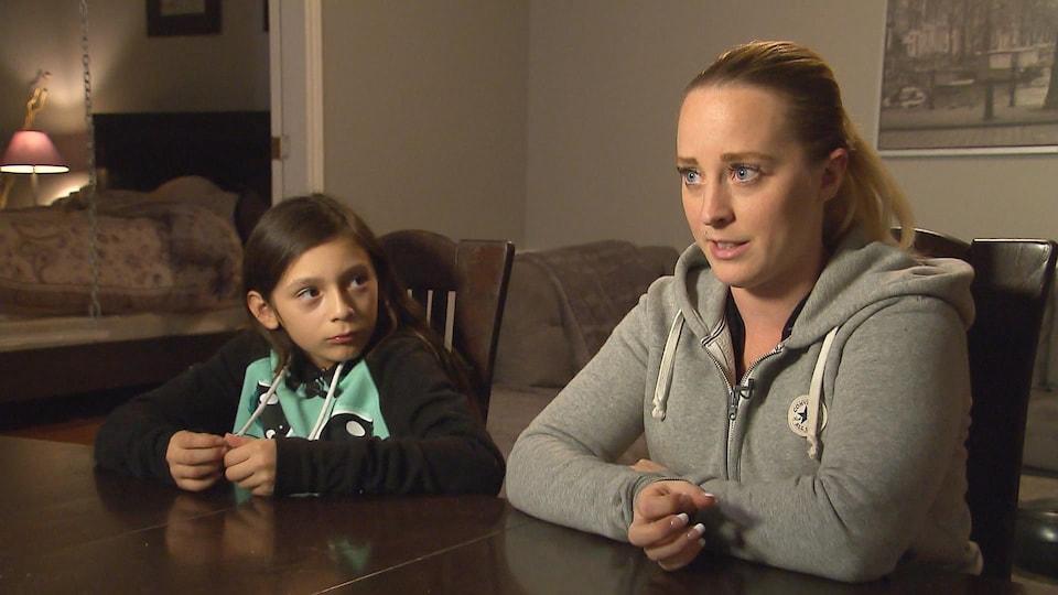 Audrey Bouchard est allée chercher de l'aide pour sa fille Thalya.