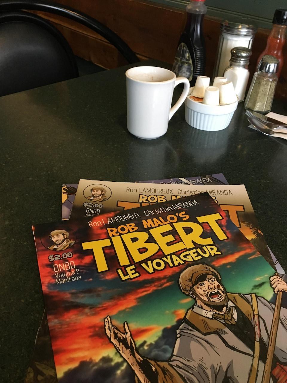 Les aventures de TiBert le Voyageur sont disponibles en bandes dessinées.