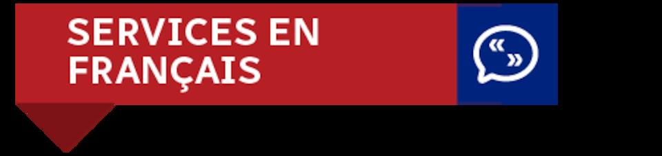 Une bannière: Services en français