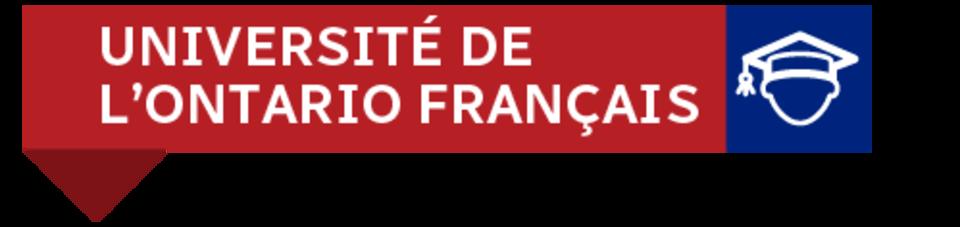 Une bannière: Université de l'Ontario français