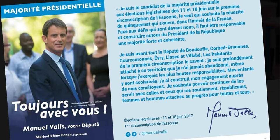 Affiche de Manuel Valls