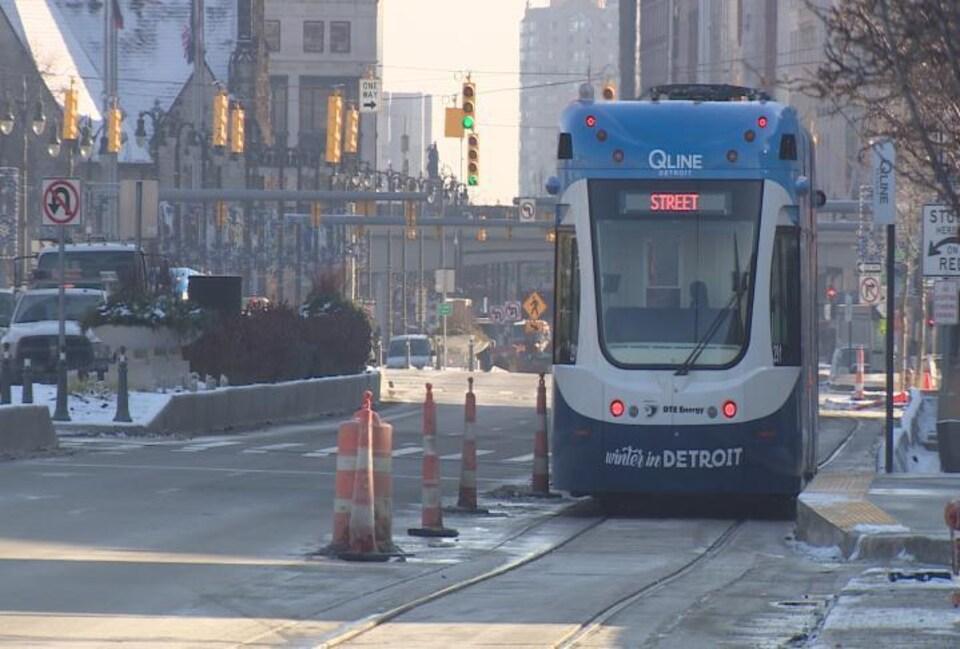 Un wagon d'un tramway à Détroit