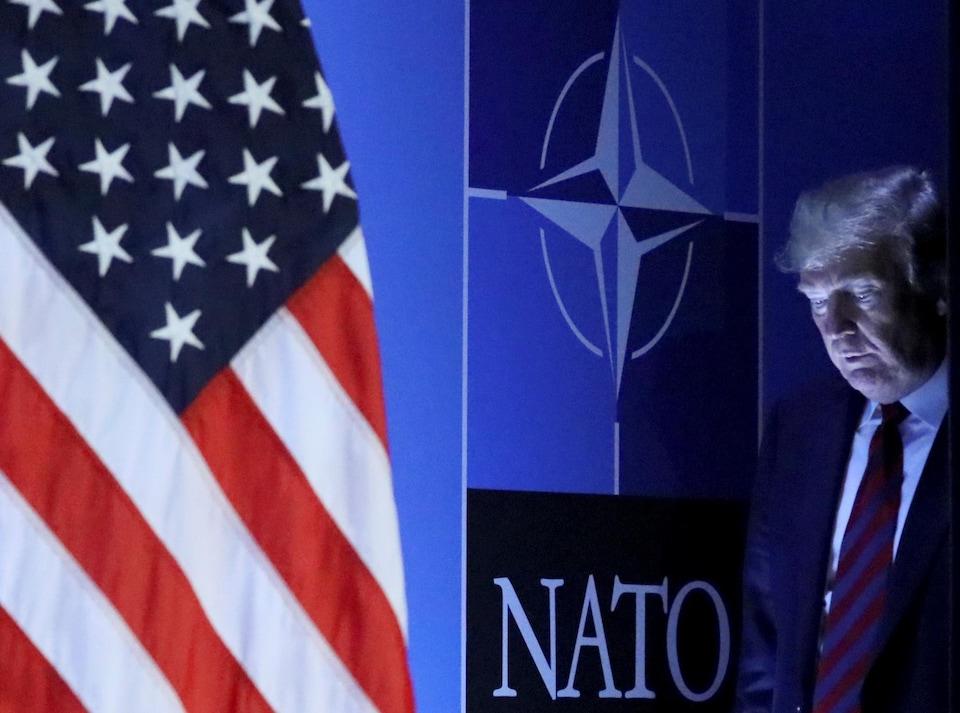 Le président américain Donald Trump a participé au sommet de l'OTAN à Bruxelles, en Belgique, le 12 juillet 2018.