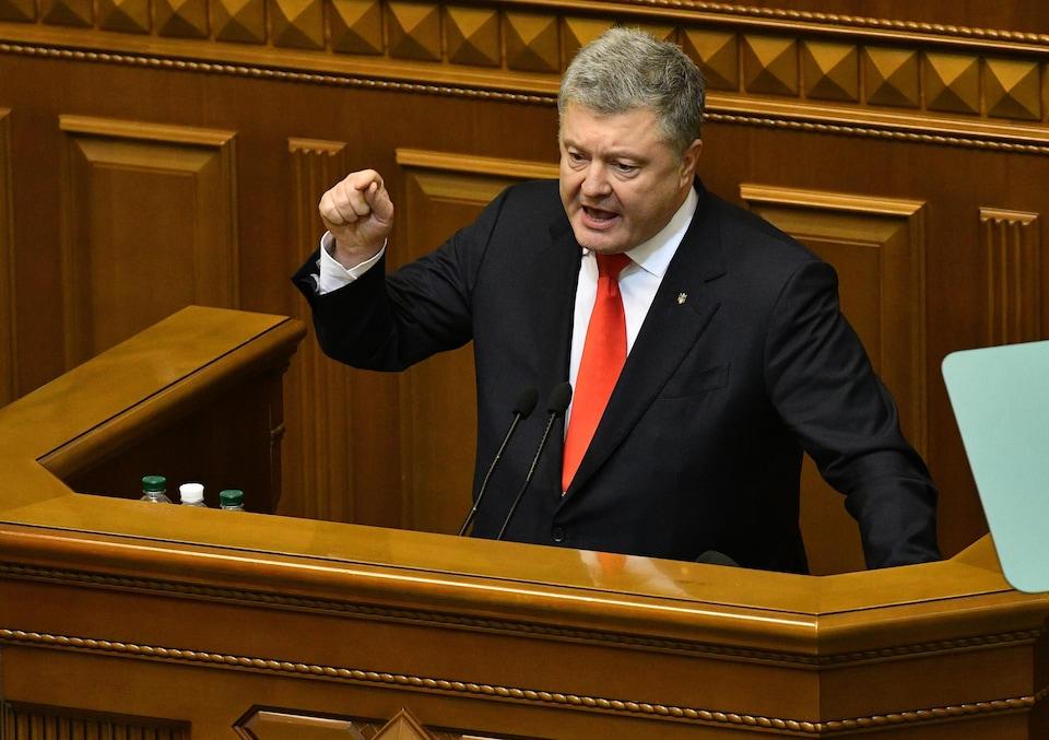 Petro Porochenko au parlement ukrainien.
