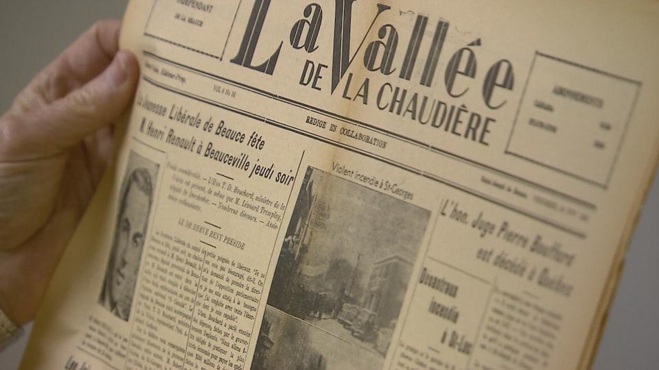 Un vieil exemplaire de La vallée de la Chaudière conservé à la Société du patrimoine des Beaucerons