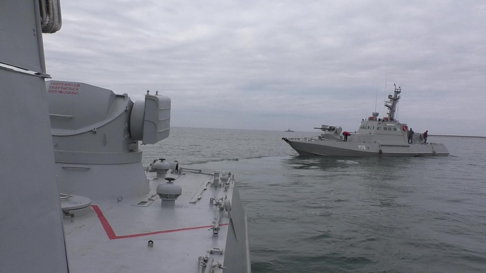 Un bateau de guerre ukrainien.