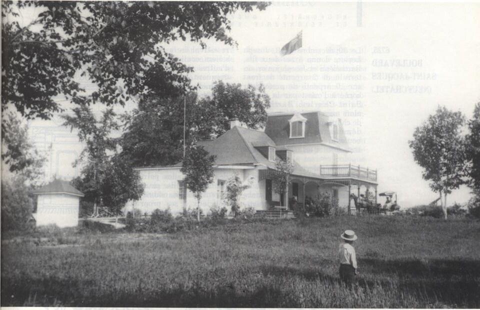 La première résidence Livernois vers 1890, BANQ, fonds Livernois 77237