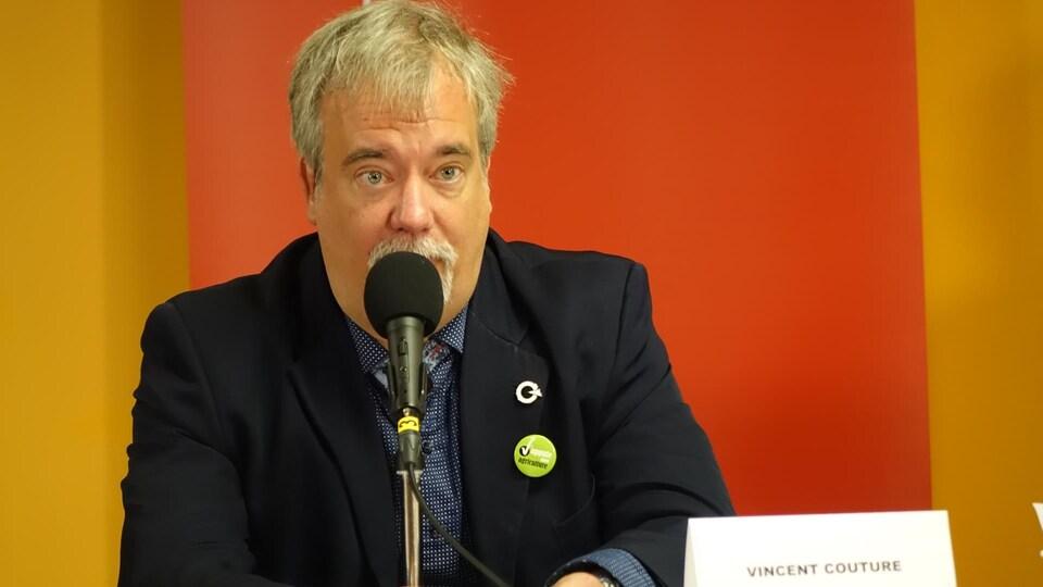 Vincent Couture, candidat du PQ.