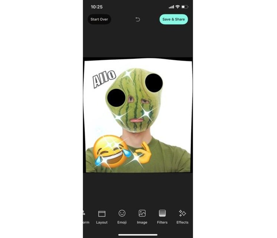 Interface de l'application Whale.