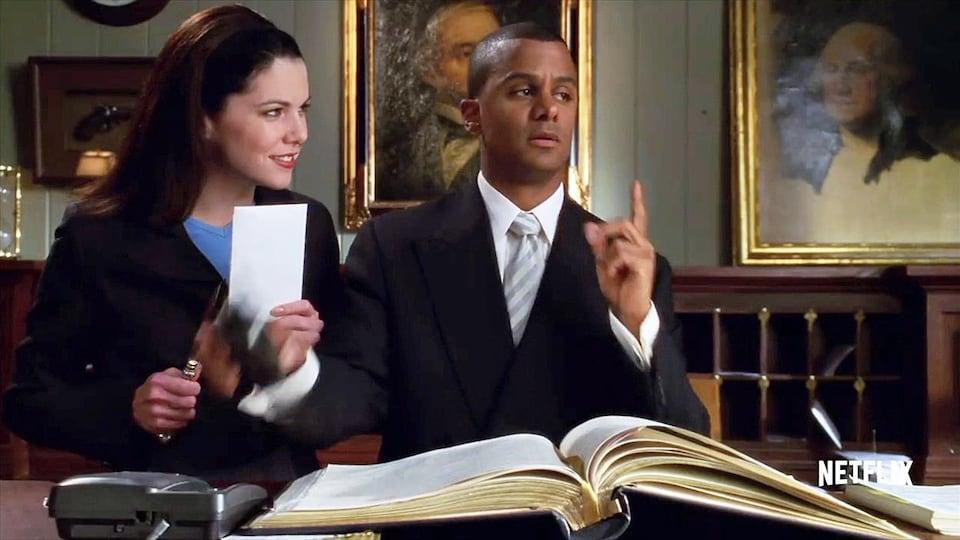 Lauren Graham et Yanic Truesdale dans la série «Gilmore Girls»