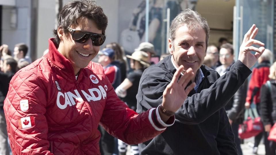 Alex Harvey et Pierre Harvey, en 2010