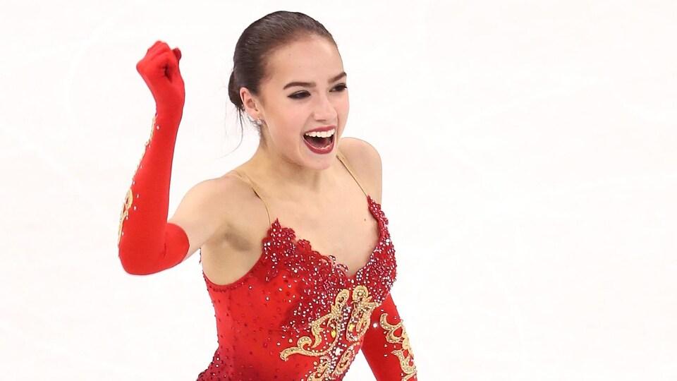 Alina Zagitova réagit à sa victoire aux Jeux olympiques de 2018