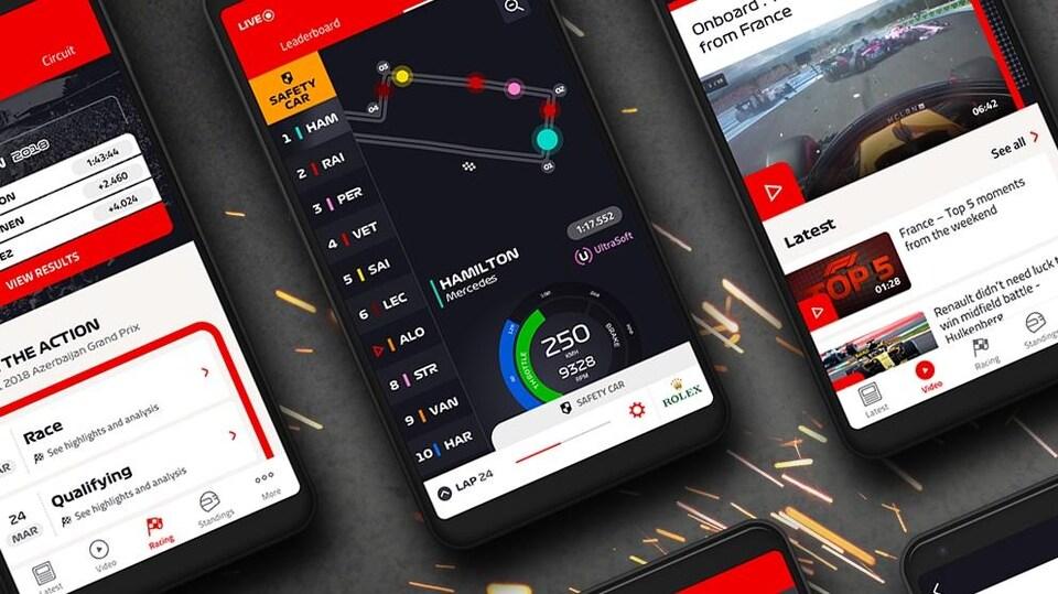 L'application pour suivre le grand prix en direct sur les téléphones intelligents.