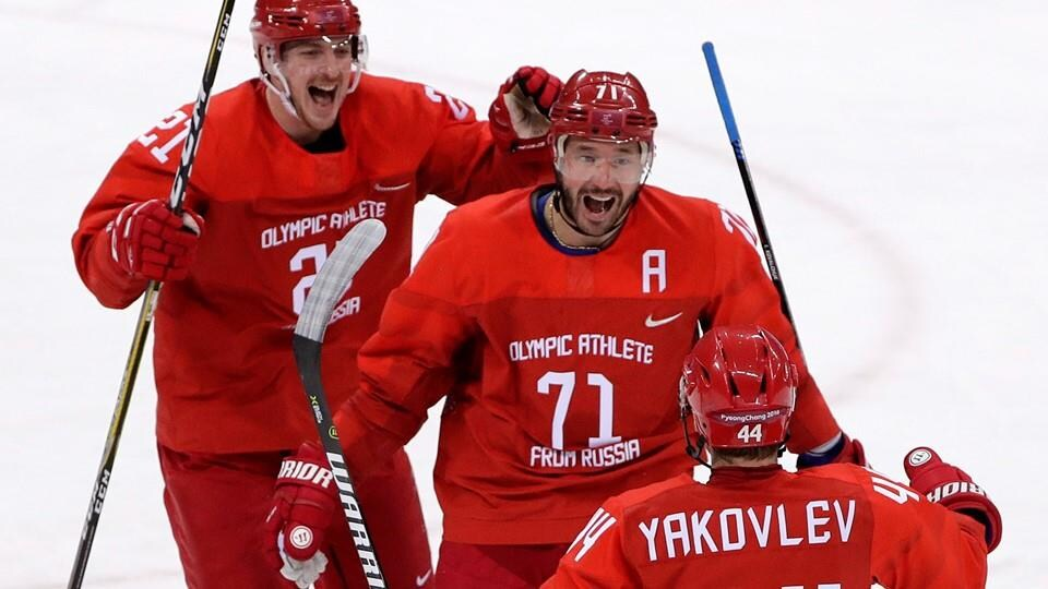athlètes olympiques russie hockey M