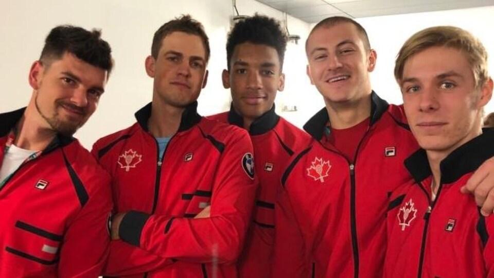 L'équipe canadienne de Coupe Davis à Madrid pour la finale de 2019