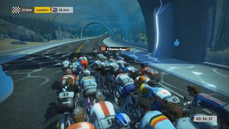 Les avatars des participants d'une compétition de cyclisme en ligne.
