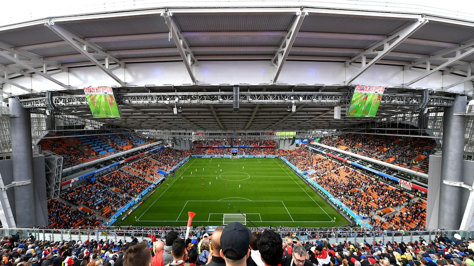 Scène du match Égypte-Uruguay joué au stade d'Iekaterinbourg, le 15 juin 2018