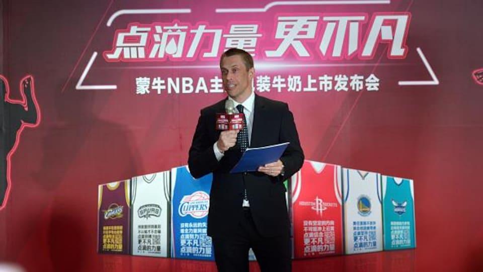 David Shoemaker, photographié en 2015, à l'époque où il était à la tête des bureaux de la NBA en Chine.
