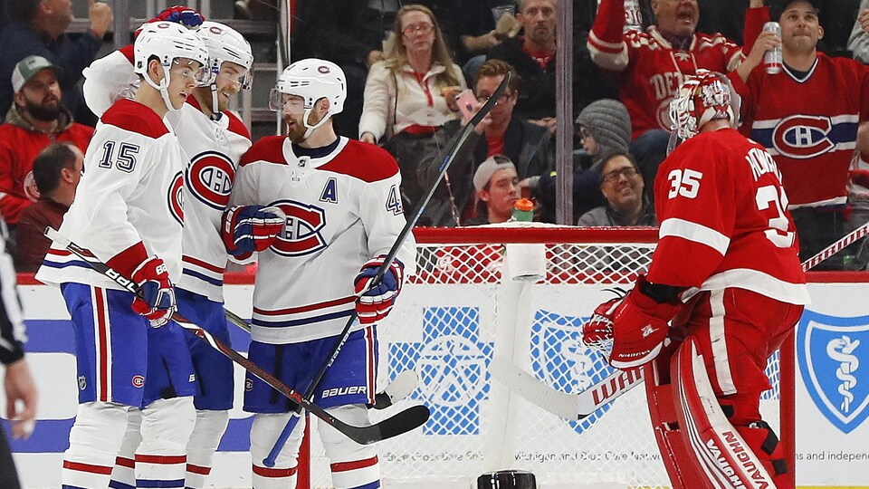 Le Canadien écrase les Red Wings 8-1 | Hockey
