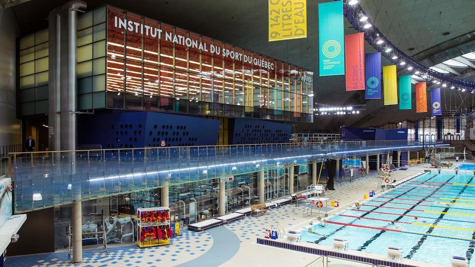 Plan général des locaux de l'INSQ en bordure des piscines du Stade olympique de Montréal