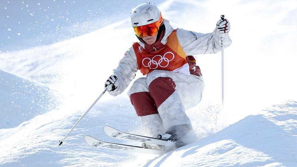 Justine Dufour-Lapointe sur la piste olympique