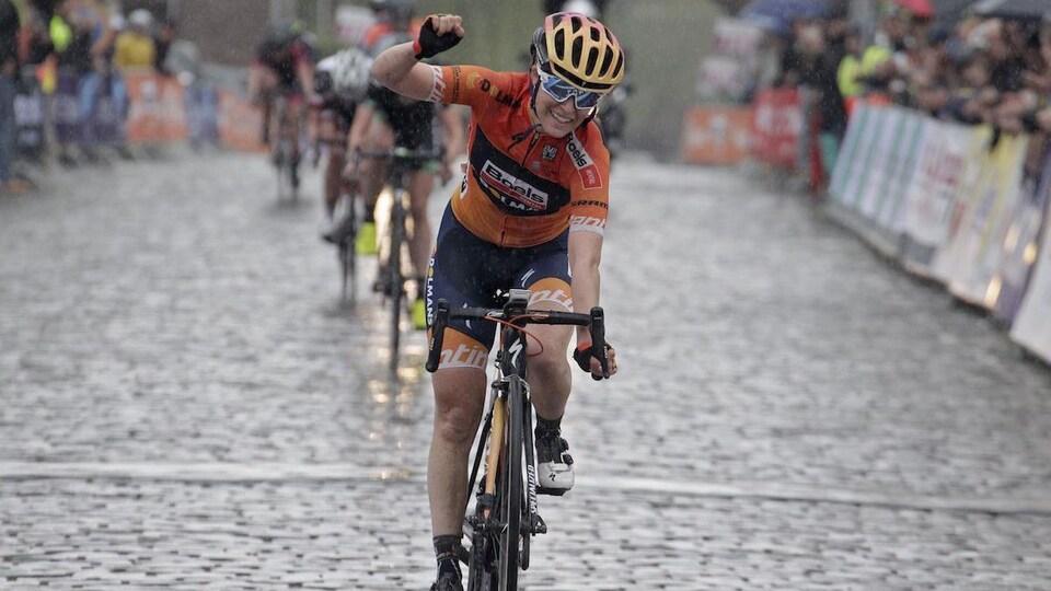 Karol-Ann Canuel en pleine course.