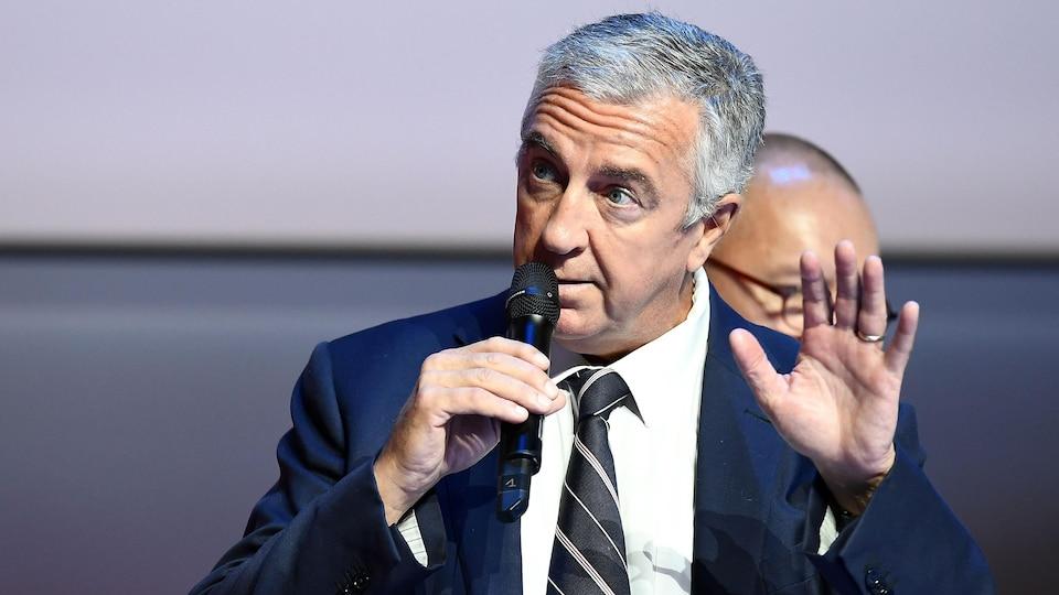 Luc Tardif,  chef de mission de la France pour les Jeux olympiques de Pyeongchang.