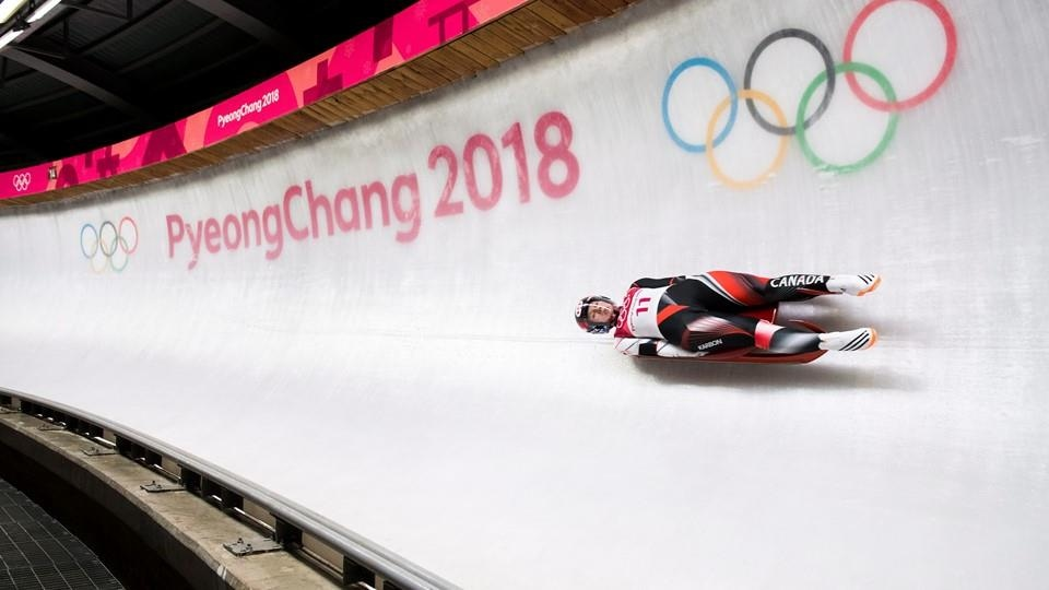 La lugeuse canadienne Alex Gough à Pyeongchang.